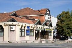 Os palas de Novi do restaurante e do hotel ?em Krusevac imagens de stock royalty free