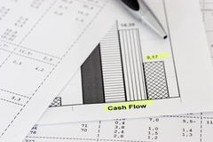Os papéis de negócio e ballpen Imagens de Stock Royalty Free