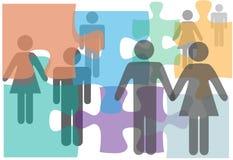 Os pares da assistência de união escolhem povos do divórcio ilustração royalty free