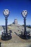 Os pares de binóculos do pay per view param em repouso no Mt Washington, NH Fotografia de Stock Royalty Free