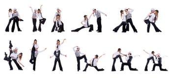 Os pares de dançarinos que dançam danças modernas Fotos de Stock