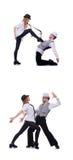 Os pares de dançarinos que dançam danças modernas Imagens de Stock Royalty Free