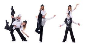 Os pares de dançarinos que dançam danças modernas Foto de Stock Royalty Free