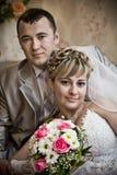 Os pares do casamento fotos de stock royalty free
