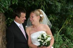 Os pares felizes Foto de Stock
