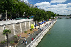 Os Paris-Plages encalham 2013 (França) Fotografia de Stock