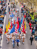 Os participantes da mola das crianças desfilam em Zurique, Suíça Fotos de Stock Royalty Free