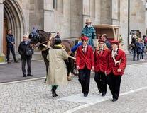 Os participantes da mola do ` s das crianças desfilam em Zurique, Suíça Fotos de Stock Royalty Free