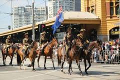 Os participantes que marcham durante o dia de Austrália desfilam em Melbourne Fotos de Stock