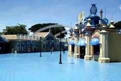 Os passeios, os locais e o interior das atrações encantaram o reino Imagens de Stock