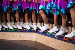Os patins fecham-se acima Fotografia de Stock Royalty Free