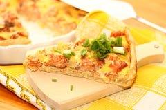 Os peixes abrem a torta Imagens de Stock