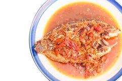 Os peixes derramam o pimentão Fotos de Stock Royalty Free