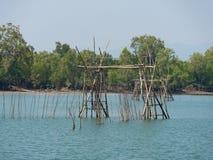Os peixes prendem em Kala Island, Myanmar Imagem de Stock Royalty Free