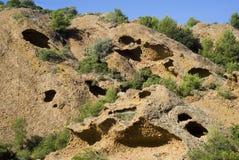 Os penhascos da pedra calcária Foto de Stock