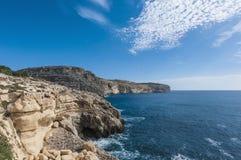 Os penhascos de Dingli em Malta fotografia de stock