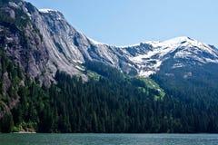 Os penhascos de Fjords enevoados imagens de stock