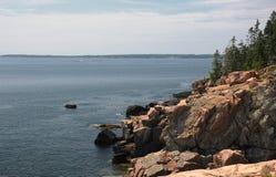 Os penhascos de Maine fotografia de stock