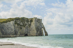 Os penhascos do etretat Fotos de Stock Royalty Free