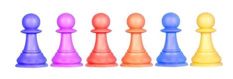 Os penhores da cor, partes de xadrez Fotos de Stock