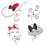 Os penteados da mulher ilustração do vetor
