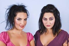 Os penteados das mulheres e compo Fotos de Stock Royalty Free