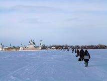 Os pescadores retornam em casa Fotos de Stock Royalty Free