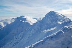 Os picos brancos do baixo Tatras Fotografia de Stock
