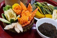 Os pimentões mergulham ou a pasta do pimentão do alimento tailandês Fotografia de Stock Royalty Free