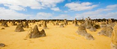 Os pináculos, Austrália Ocidental fotografia de stock