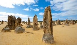 Os pináculos, Austrália Ocidental imagem de stock royalty free