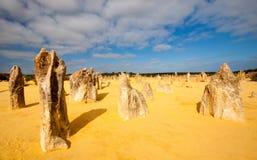 Os pináculos, Austrália Ocidental foto de stock