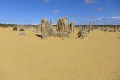 Os pináculos em Cervantes na Austrália Ocidental Fotografia de Stock