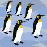 Os pinguins surgem o teste padrão, pinguins de imperador do teste padrão do rei Penguins Winter Repeat para o projeto de matéria  ilustração royalty free