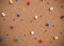 Os pinos conectaram o fundo linear da rede networking imagem de stock royalty free