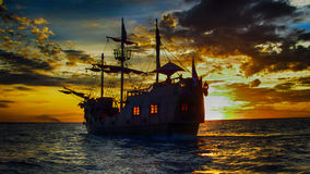 Os piratas dos 04 do Cararibe imagens de stock