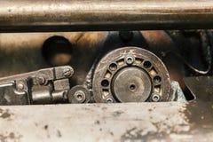 Os pistões hidráulicos fecham-se acima Imagens de Stock Royalty Free
