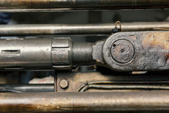 Os pistões hidráulicos fecham-se acima Imagem de Stock Royalty Free