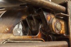Os pistões hidráulicos fecham-se acima Fotografia de Stock Royalty Free
