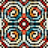 Os pixéis coloriram a ilustração sem emenda geométrica do vetor do teste padrão Imagens de Stock