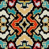 Os pixéis pequenos coloriram a ilustração sem emenda do vetor do teste padrão do fundo geométrico Fotos de Stock Royalty Free