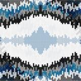 Os pixéis pequenos coloriram o fundo geométrico Fotos de Stock