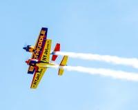 Os planos do conluio executam em Quonset Airshow Foto de Stock Royalty Free