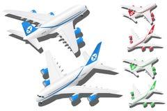 Os planos isométricos do vetor ajustaram-se da ilustração 2 dentro em cores diferentes ilustração royalty free
