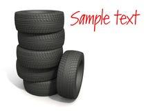 Os pneumáticos do esporte ilustração stock