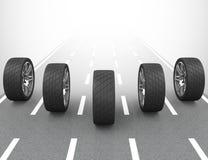 Os pneus de carro ilustração do vetor