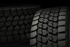 os pneus do inverno da ilustração 3d fecham-se acima ilustração stock