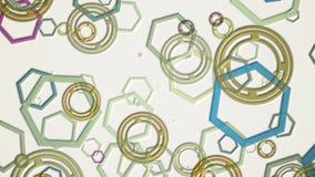 Os polígono e os círculos abstratos vão para baixo e levantam ilustração do vetor
