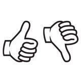 Os polegares acima e gesticulam para baixo Imagens de Stock Royalty Free