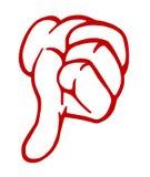 Os polegares entregam para baixo o sinal ilustração do vetor